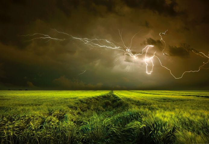 Photo wallpapers Lightning And Thunder | Shop online
